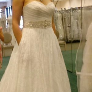 Size 10, all lace wedding dress